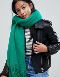 Пушистый шарф-накидка River Island - Зеленый