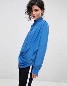Рубашка с запахом Gestuz - Синий