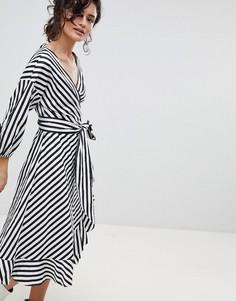 Платье в полоску с запахом Gestuz - Мульти