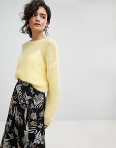 Легкий пуловер из мохера Gestuz - Желтый
