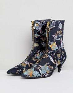 Ботинки из ткани с пальмовым принтом Gestuz - Мульти