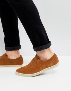 Светло-коричневые низкие замшевые туфли Fred Perry Byron - Рыжий