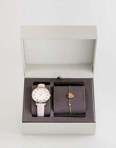 Часы с кожаным ремешком и браслет в подарочном наборе Fossil ES4351SET Jacqueline - Золотой