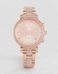 Наручные часы цвета розового золота Michael Kors MK6560 Sofie 39 мм - Золотой