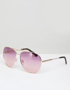 Солнцезащитные очки-авиаторы с эффектом омбре River Island - Медный