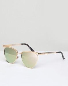 Солнцезащитные очки кошачий глаз с зеркальными стеклами River Island - Золотой