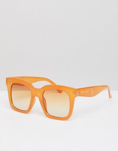 Большие солнцезащитные очки River Island - Желтый