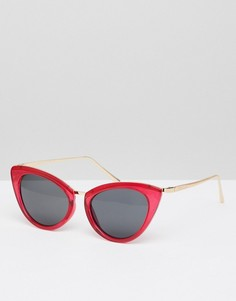 Солнцезащитные очки кошачий глаз в стиле ретро River Island - Красный