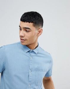 Голубая джинсовая рубашка New Look - Синий