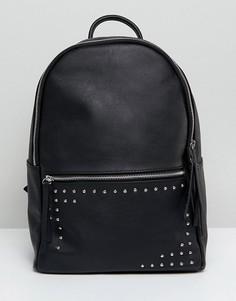 Рюкзак с заклепками Pieces - Черный