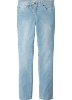 Джинсы (синий джинсовый/белый) Bonprix