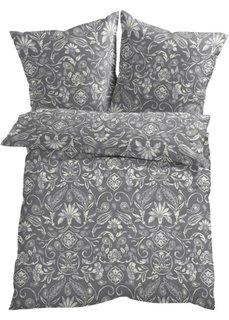 Постельное белье Селина, линон (серый/кремовый) Bonprix