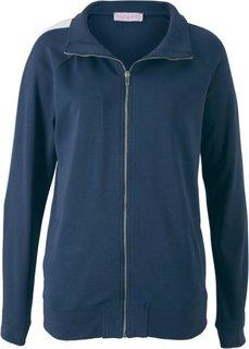 Куртка с длинным рукавом из трикотажа, дизайн Maite Kelly (темно-синий/белый) Bonprix