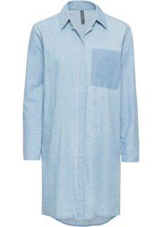 Платье джинсовое (голубой) Bonprix