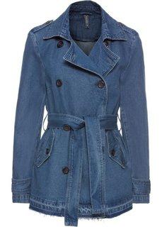 Куртка (синий «потертый») Bonprix