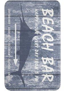 Коврик для ног Пляжный бар, пена с эффектом памяти (синий) Bonprix