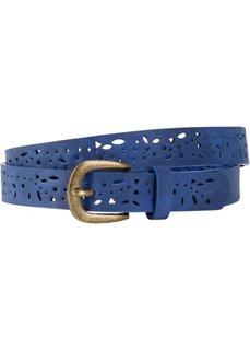 Ремень ажурный узкий (синий) Bonprix