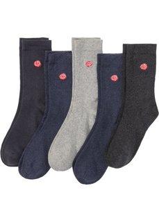 Женские носки с вышивкой (5 пар) (меланж с вышивкой) Bonprix