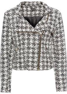 Куртка из жаккарда (кремовый/черный) Bonprix