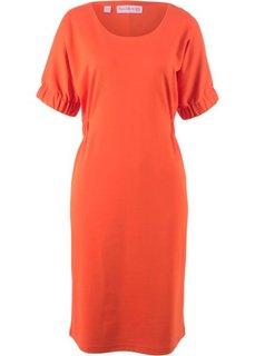 Платье из трикотажа, рукав летучая мышь − дизайн от Maite Kelly (оранжевый) Bonprix