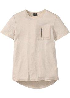 Длинная футболка Regular Fit (светло-бежевый) Bonprix