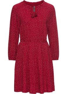 Платье (темно-красный/белый в горошек) Bonprix