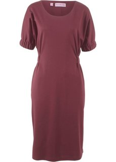 Платье из трикотажа, рукав летучая мышь − дизайн от Maite Kelly (темно-бордовый) Bonprix