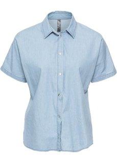 Блузка джинсовая (голубой) Bonprix