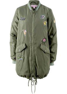 Куртка удлиненного покроя, дизайн Maite Kelly (оливковый) Bonprix