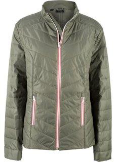 Куртка с цветной молнией (оливковый) Bonprix