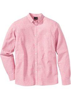 Рубашка Slim Fit с длинным рукавом (розовый) Bonprix