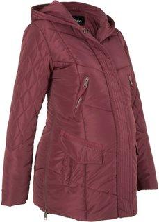Для будущих мам: стеганая куртка (темно-бордовый) Bonprix