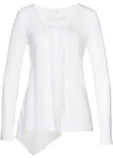 Блузка из трикотажа (белый) Bonprix