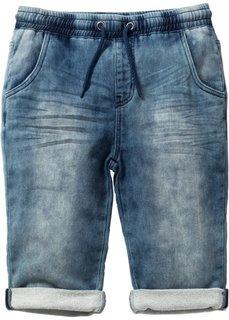 Бермуды без застежки, увеличенный (синий «потертый») Bonprix