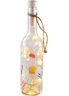 Бутылка со светодиодной подсветкой Морская (прозрачный/синий/аква) Bonprix
