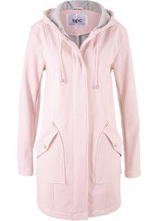 Куртка-парка из материала софтшелл (нежно-розовый меланж) Bonprix