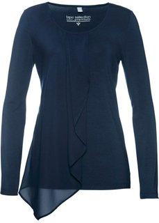 Блузка из трикотажа (темно-синий) Bonprix