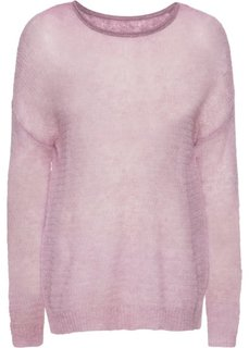 Пуловер (сиреневый меланж) Bonprix