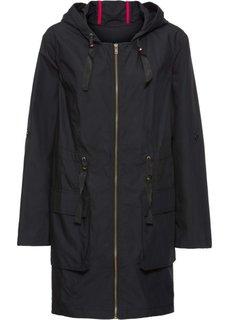Куртка со вставкой (черный) Bonprix