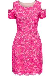 Платье из кружева (ярко-розовый) Bonprix