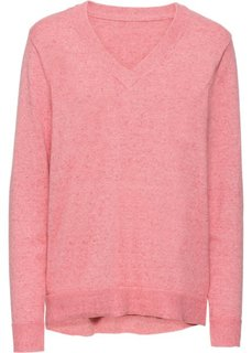 Пуловер (розовый меланж) Bonprix