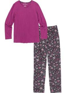 Пижама (фиолетовая орхидея с рисунком) Bonprix