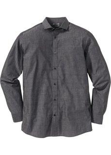Рубашка Regular Fit (темно-серый) Bonprix