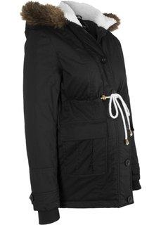 Зимняя куртка для беременных (черный) Bonprix