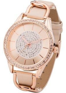 Часы нарядные (розово-золотистый/телесный) Bonprix