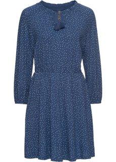 Платье (насыщенно-голубой/белый в горошек) Bonprix