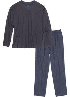 Пижама (ночная синь/синий меланж) Bonprix