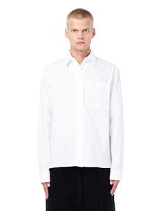 Хлопковая рубашка с пластиковым карманом ГОША РУБЧИНСКИЙ