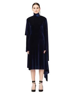 Бархатное платье с открытой спиной Vetements