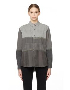 Блузка из хлопка и шелка Undercover